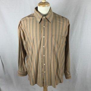 Alan Flusser Multi-Colored Striped Shirt Size XL